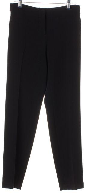 THEORY Black Padra Admiral Crepe Cropped Trouser Dress Pants