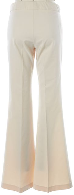 THEORY Ivory Wide Leg Pleated Trouser Dress Pants