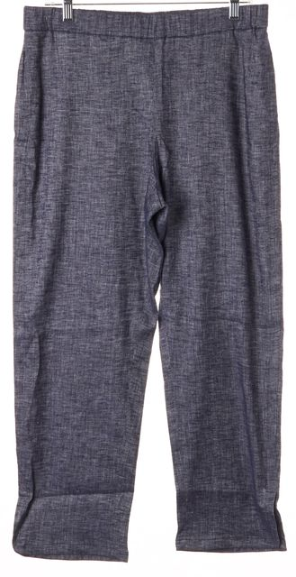 THEORY Blue Chambray Tierra Wash Linen Thorina Cropped Casual Pants