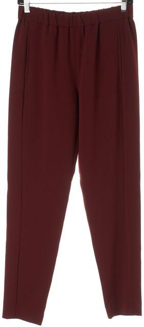 THEORY Jam Red Elastic Waist Thorene Crepe Casual Pants