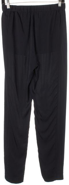 THEORY Navy Blue Silk Elastic Waist Thorene Modern Casual Pants