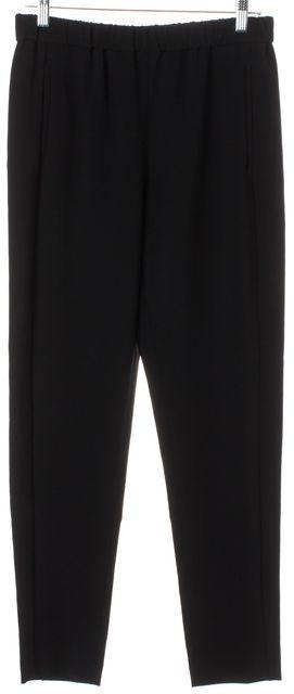 THEORY Black Elastic Waist Thorene Crepe Casual Pants
