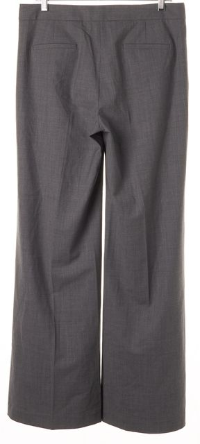 THEORY Gray Wool Wide Flared Leg Trousers Dress Pants