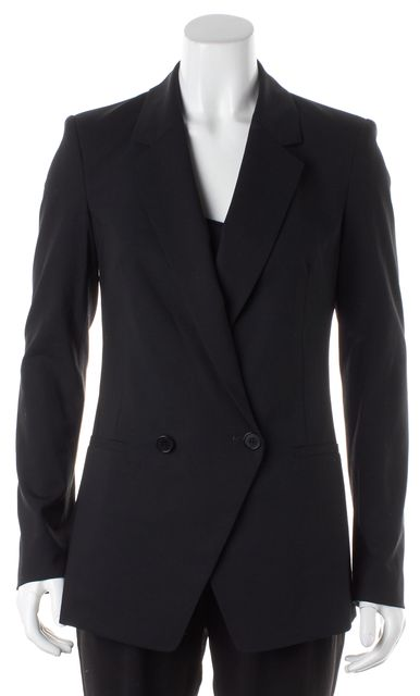 THEORY Black Wool Double Breasted Blazer Jacket
