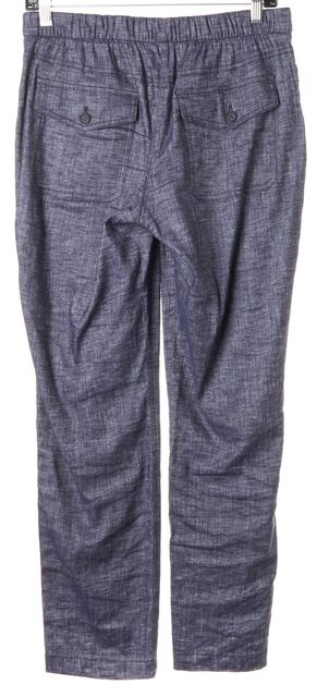 THEORY Blue Linen Northsound Tierra Wash Chambray Casual Pants