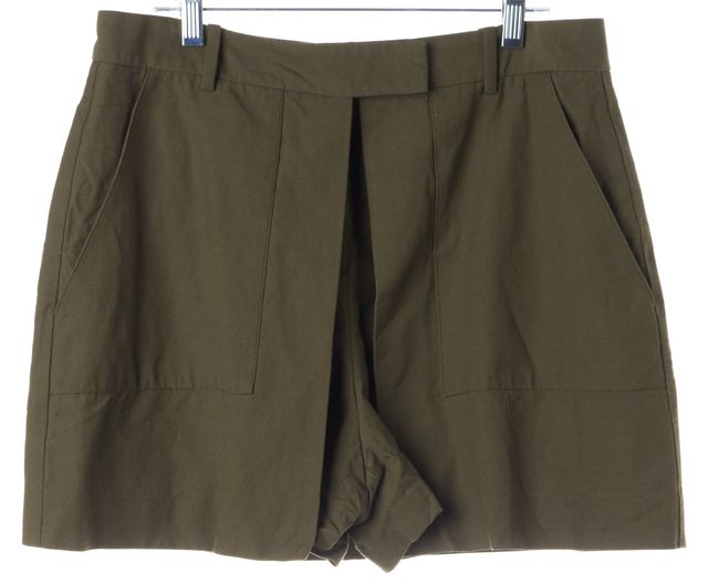 THEORY Green Faux Layered High Waisted Caslyn W Casual Shorts