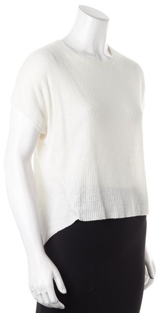 THEORY Ivory Talavyn Crewneck Ribbed Knit Top