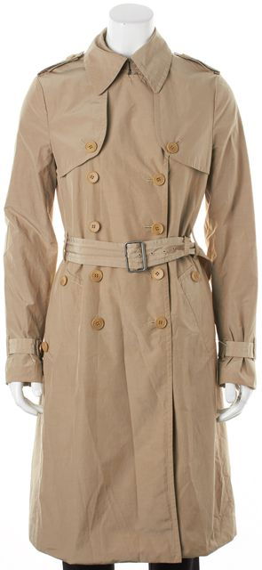 THEORY Beige Double Breasted Magena Belted Trench Coat