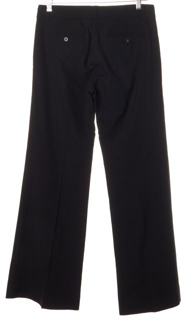 THEORY Black Crease Front Wide Leg Dress Pants