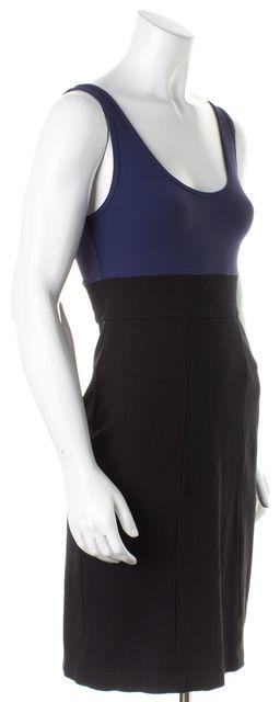 THEORY Navy Blue Black Sleeveless Tank Stretch Dress