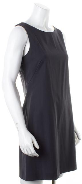 THEORY Charcoal Gray Wool Sleeveless Sheath Dress