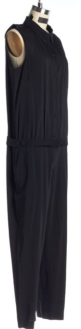 THEORY Black Sleeveless Jumpsuit