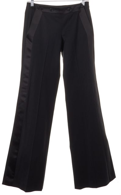 THEORY Black Wool Sailor Style Trouser Dress Pants