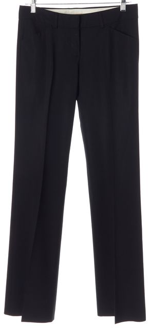 THEORY Black Wool Crease Front Trouser Dress Pants
