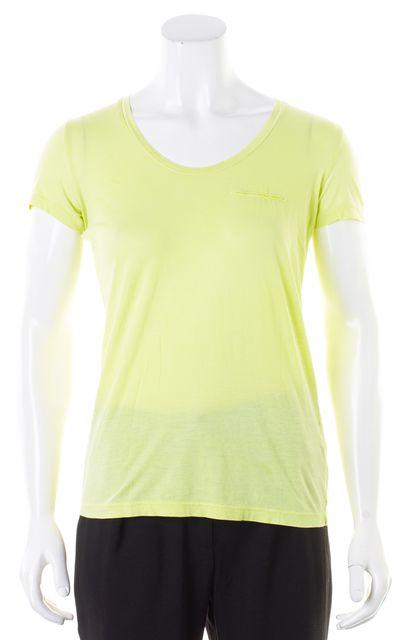 THEORY Neon Yellow Basic Short Sleeve T-Shirt