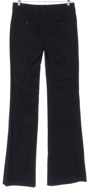 THEORY Black Stretch Cotton Max C Trouser Dress Pants