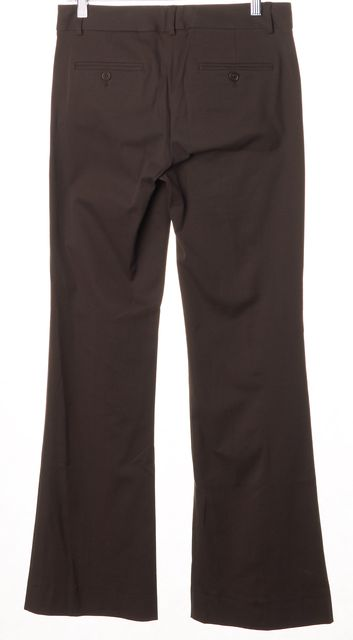 THEORY Bark Brown Stretch Cotton Trouser Dress Pants