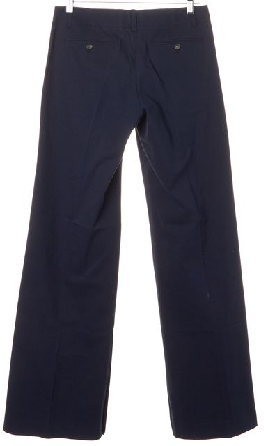 THEORY Navy Blue Stretch Cotton Straight Leg Dress Pants