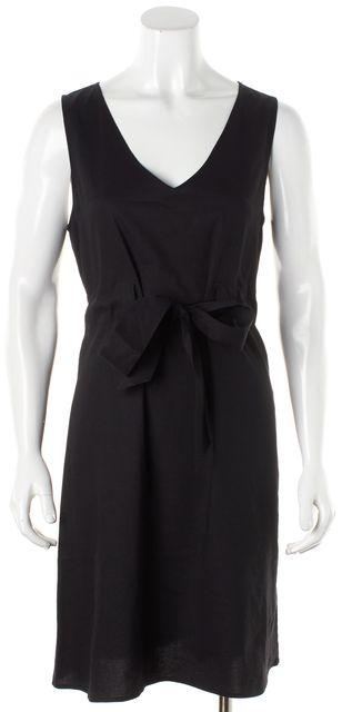 THEORY Black Linen Alfa A-Line Dress