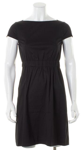 THEORY Black Short Sleeve Sheath Dress