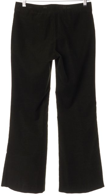 THEORY Olive Green Straight Corduroy Trouser Pants