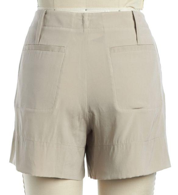 THEORY Beige Silk Sherlyn Casual Shorts
