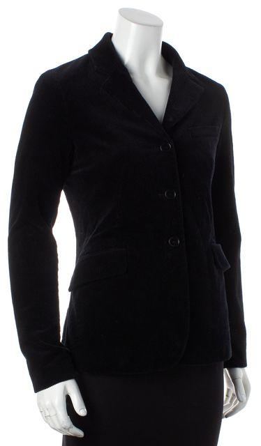 THEORY Black Corduroy Three Button Blazer