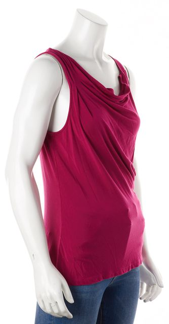 THEORY Pink JAYRA SULLA Sleeveless Droop Neck Tank Top