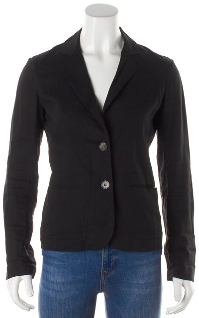 THEORY Brown Long Sleeve Linen Blazer