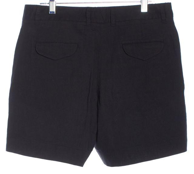 THEORY Basic Black Linen Casual Shorts