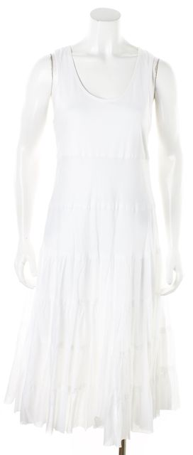 THEORY White Long Blouson Dress