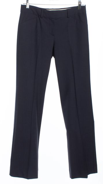 THEORY Navy Blue Slim Straight Dress Pants