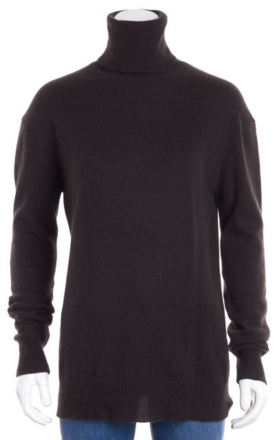 THEORY Brown Cashmere Turtleneck Sweater