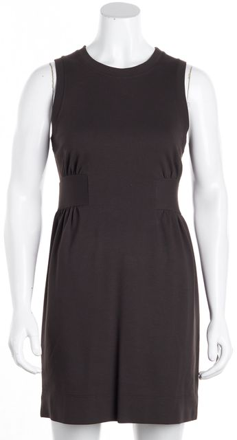THEORY Brown Fit & Flare Sleeveless Dress