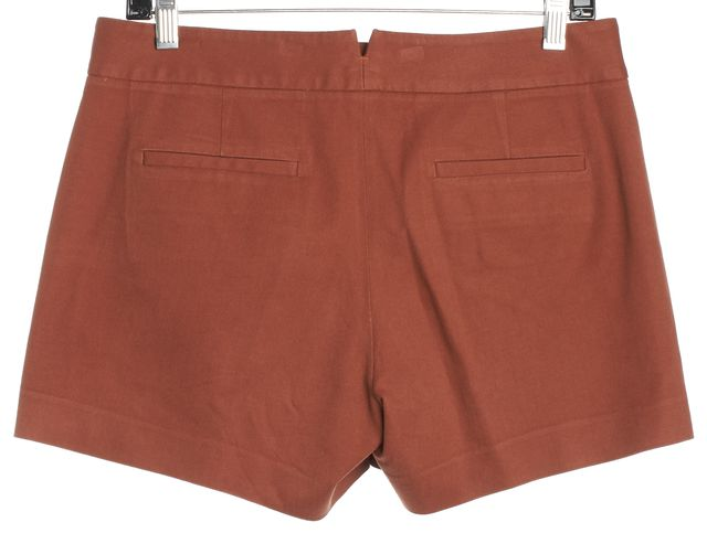 THEORY Rust Orange Casual Shorts