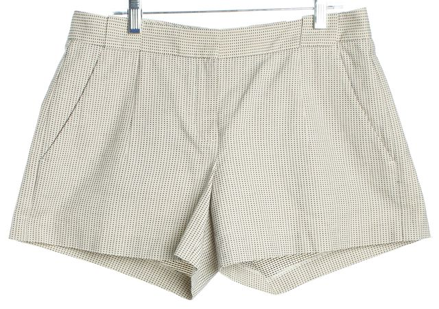 ... THEORY Ivory & Black Abstract Casual Shorts