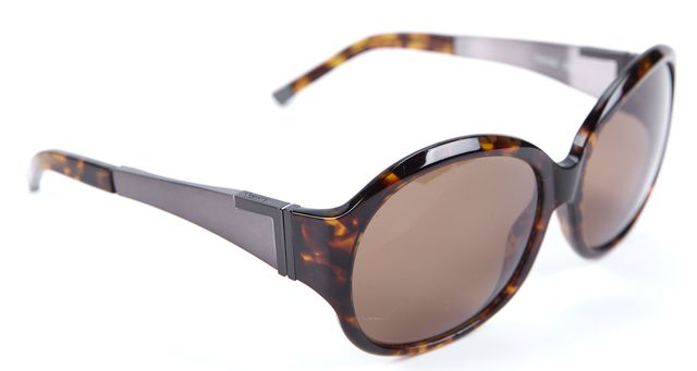 THEORY Brown Tortoise Square Sunglasses