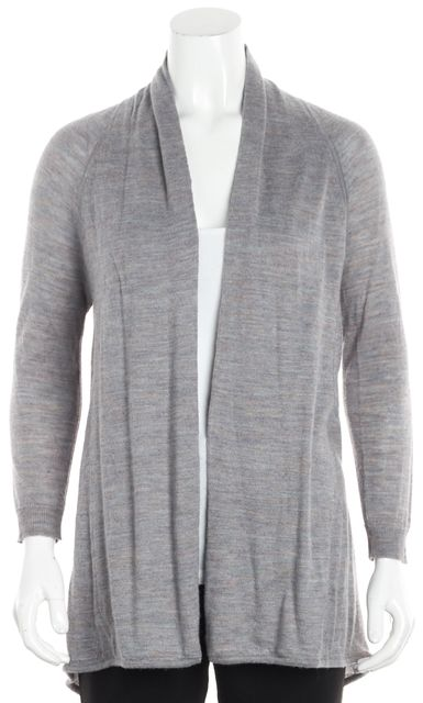 THEORY Gray Multi-Color Marled Open Front Cardigan