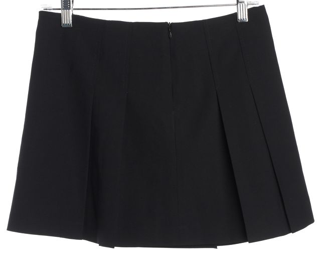 THEORY Black Wool Pleated Skirt