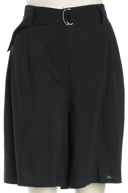 THEORY Black Belted Dress Shorts