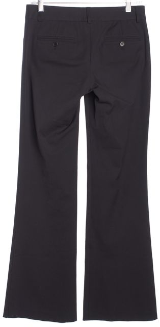 THEORY Black Button front Seamed Pockets Boot Cut Dress Pants