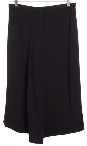 TIBI Black Side Pleated Draped Detail Skirt Size 8