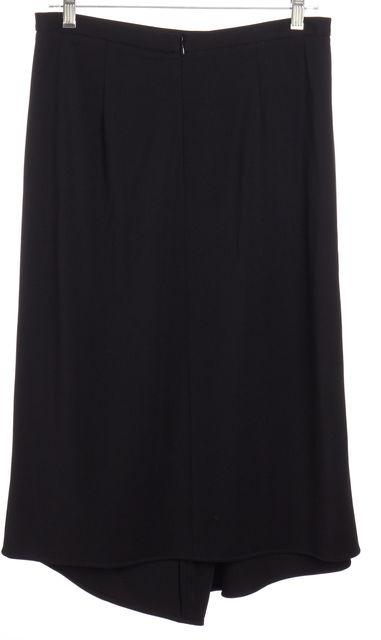 TIBI Black Side Pleated Draped Detail Skirt