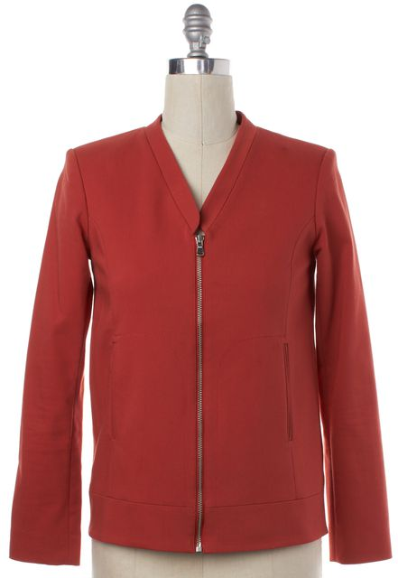 TIBI Orange Zip Up Jacket