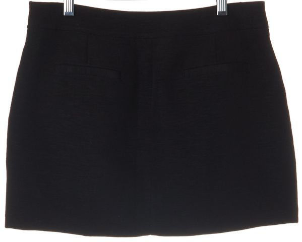 TIBI Black Linen Mini Skirt Size 2