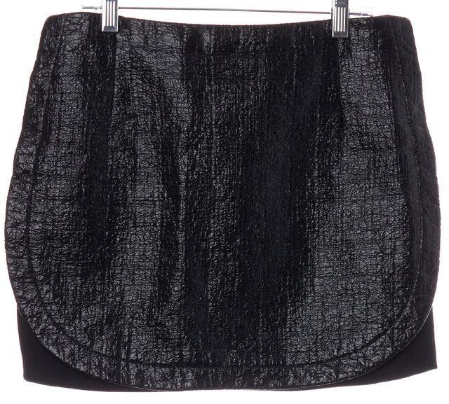 TIBI Black Shiny Mini Skirt