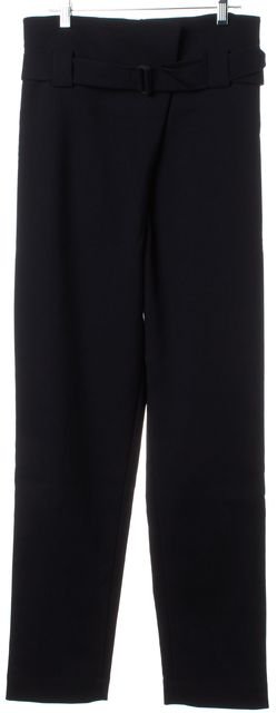 TIBI Black High Waist Casual Pants