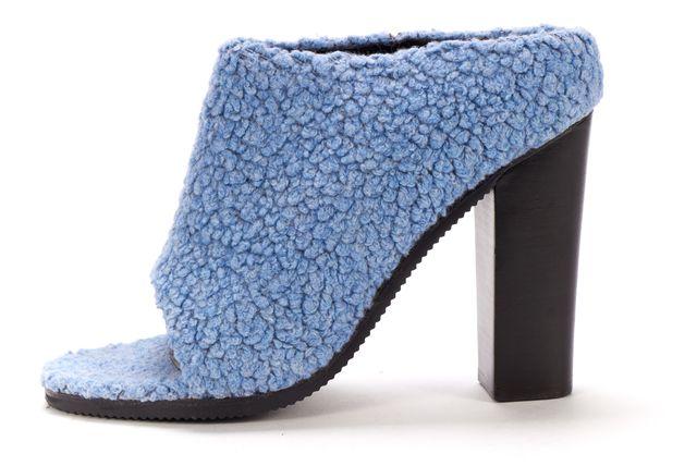 TIBI Blue Wool Leona Heel Mules