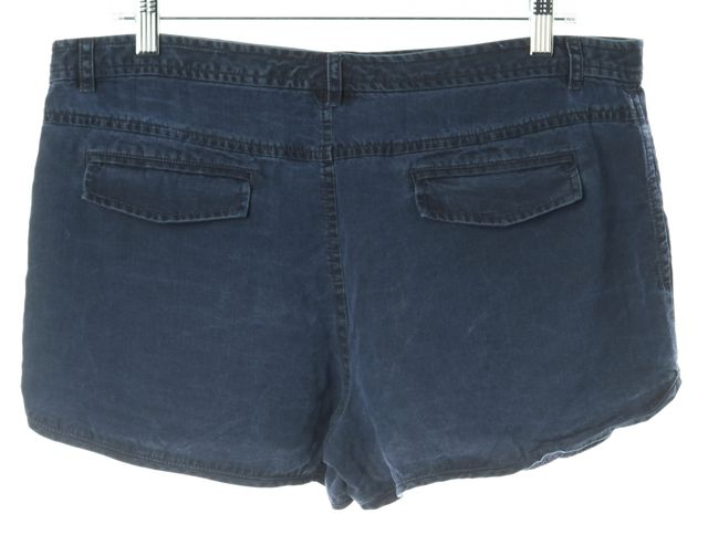 TIBI Blue Denim Look Summer Mini Short Shorts
