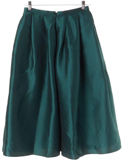 TIBI Teal Blue A-Line Skirt
